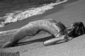 robert keshishian - b/w beach
