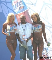 Paul  - Me with my Miller Lite Models