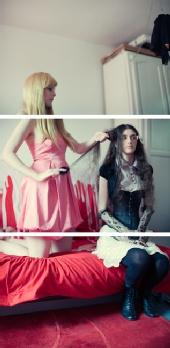 Tom Spianti - Lizzie & Luh - Dolls hair stuff triptych