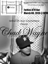 Roberto Saballos - 2nd Flyer for Chad Wayne