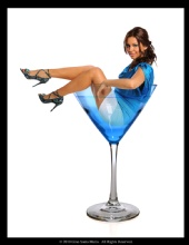 Santa Maria Studio - Woman in Martini Glass