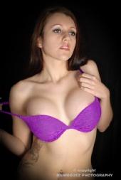 Jose Manriquez - andrea purple lingerie