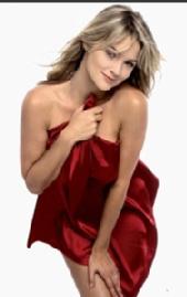 Susan - Susan with a red satin sheet