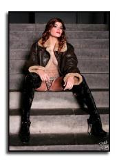 Jessica Hayward - Attitude on the stairs