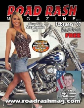 Stephanie - Road Rash Magazine Cover February 2007