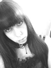 faeriehead - black and white head shot