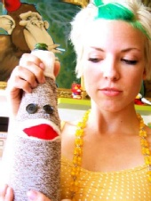 Lauren - Sock Monkey/Wine Bottle