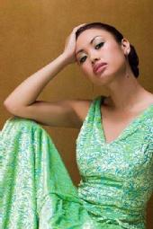 Theia M - green dress