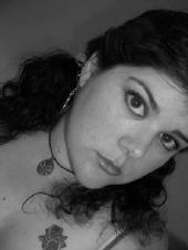 Jessica C - Black and White Headshot