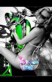 carolina model - biker shoot