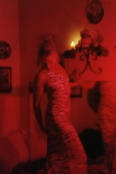 becca ally - in red light