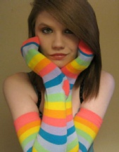 Sierra Michelle - Rainbow Socks (Jan 24th 2009)