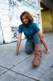 Ta Mara - Leopard Boots/ Blue JACKET