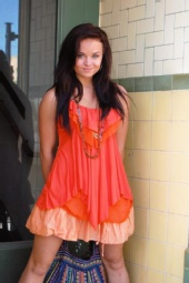 Roxanne - orange shirt