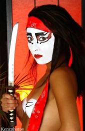 Carolynne Sue Eng - Ninja..Kenz body painting shoot