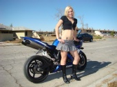 kthurman05 - school girl with R1 motorcycle
