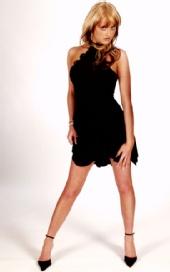 melissa jay lee - sexy look in black dress
