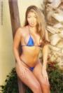 Akira - skimpy blue bikini.