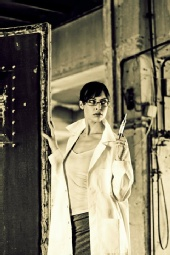 Ina Vai - Villains-Dr Celeste-B/W by Alex Sheldon