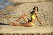 Addie Evans - on  the beach