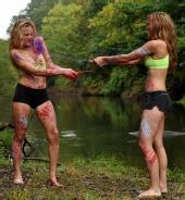 Backstreet Photography - Linnsey & Jillian ~ paint fight