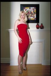 x-labchicago - melanie in her red dress